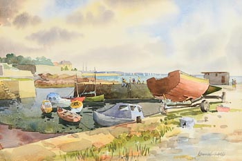 Kenneth Webb, Bullock Harbour, Dalkey at Morgan O'Driscoll Art Auctions