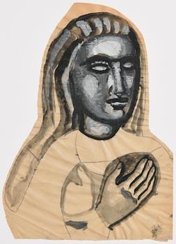 Evie Hone, Head of a Woman (c.1952) at Morgan O'Driscoll Art Auctions