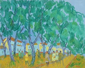 Desmond Carrick, People's Park at Morgan O'Driscoll Art Auctions