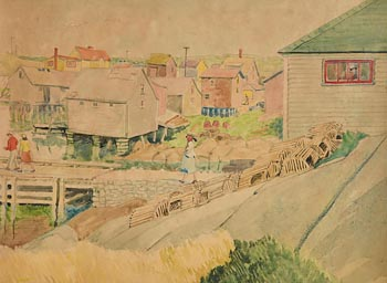 Harry Aaron Kernoff, The Fishing Port (1957) at Morgan O'Driscoll Art Auctions
