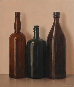 Comhghall Casey, Three Bottles (2009) at Morgan O'Driscoll Art Auctions