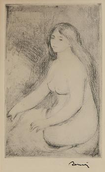 Pierre-Auguste Renoir, Baigneuse Assise at Morgan O'Driscoll Art Auctions
