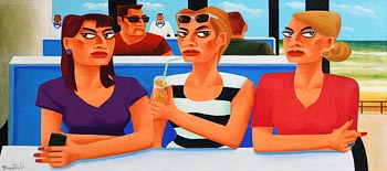 Graham Knuttel, Girl's Day Out at Morgan O'Driscoll Art Auctions