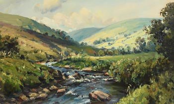 Charles J. McAuley, River in the Glens, Glendun, Co. Antrim at Morgan O'Driscoll Art Auctions