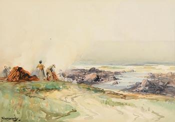 Frank McKelvey, Gathering the Kelp at Morgan O'Driscoll Art Auctions