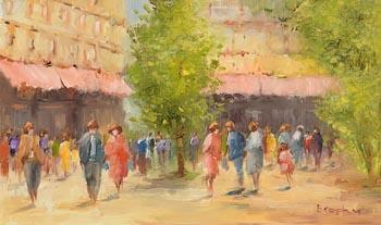 Elizabeth Brophy, The Street at Morgan O'Driscoll Art Auctions