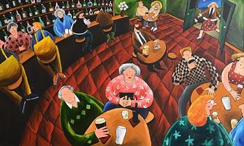 Shane Johnson, Night at the Local (2001) at Morgan O'Driscoll Art Auctions