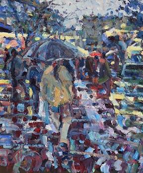 Arthur K. Maderson, Shower at Dusk, La Place de La Comedie at Morgan O'Driscoll Art Auctions