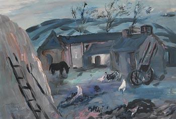 Tony O'Malley, Mountain Farm, Co. Wicklow (1955) at Morgan O'Driscoll Art Auctions