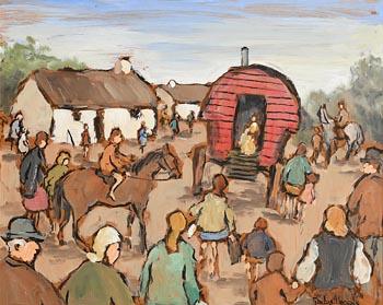 The Red Caravan at Morgan O'Driscoll Art Auctions