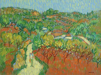 Desmond Carrick, Afternoon in the Olive Grove at Morgan O'Driscoll Art Auctions