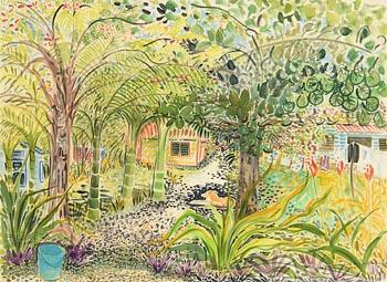 Pauline Bewick, Olivas Casual Accommodation - Apia - Samoa (1989) at Morgan O'Driscoll Art Auctions