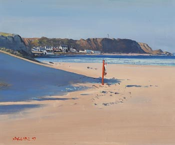 Cecil Maguire, Port Braddon from Whitepark, Co. Antrim (1997) at Morgan O'Driscoll Art Auctions