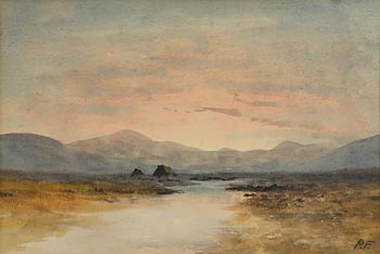 Percy French, Evening Light, Connemara at Morgan O'Driscoll Art Auctions