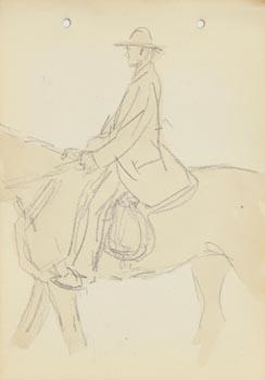 Jack Butler Yeats, The Horseman at Morgan O'Driscoll Art Auctions