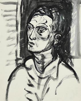 Evie Hone, Head of a Man at Morgan O'Driscoll Art Auctions