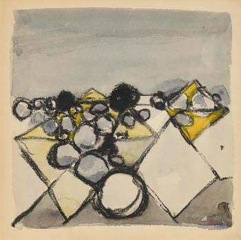 Colin Middleton, Abstract Landscape at Morgan O'Driscoll Art Auctions