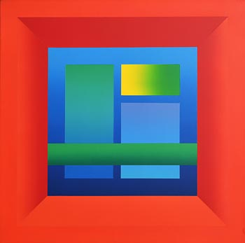 Francis Tansey, Complementarys In Red (1989) at Morgan O'Driscoll Art Auctions