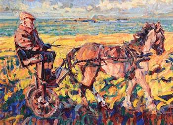 Arthur K. Maderson, Sunflower Sunset, Great Blasket Islands at Morgan O'Driscoll Art Auctions