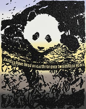 Rob Pruitt, Pandas Have Lived on Earth for Over Two Million Years (2019) at Morgan O'Driscoll Art Auctions