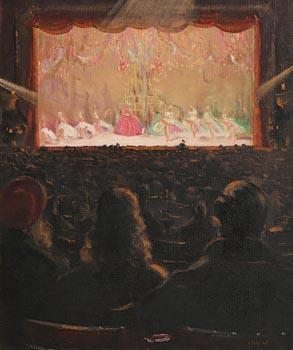 Patrick Leonard, Ballet Scene, Old Capitol Theatre (c.1950) at Morgan O'Driscoll Art Auctions