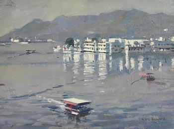 Ken Howard, Morning Reflection, Lake Palace Hotel at Morgan O'Driscoll Art Auctions