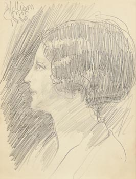 William Conor, Portrait of Sophia Rosamund Praeger (1930) at Morgan O'Driscoll Art Auctions