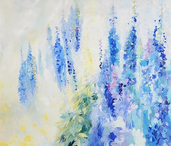 Maurice Henderson, Flower Garden (1989) at Morgan O'Driscoll Art Auctions
