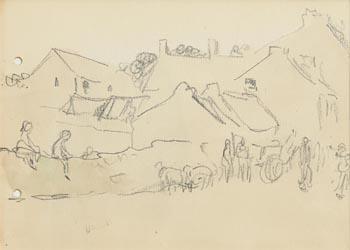 Jack Butler Yeats, Market Day, Sligo at Morgan O'Driscoll Art Auctions