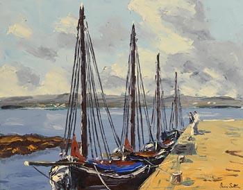 Ivan Sutton, Sruthan Pier Carraroe, Galway at Morgan O'Driscoll Art Auctions