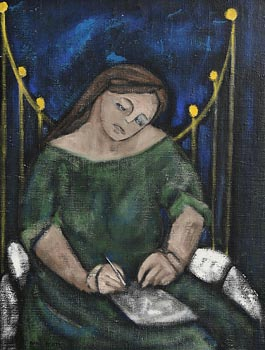 Anne Yeats, The Letter Writer at Morgan O'Driscoll Art Auctions