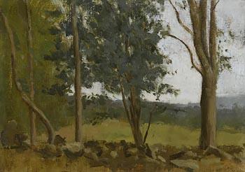Colin Watson, Broken Wall and Trees at Morgan O'Driscoll Art Auctions