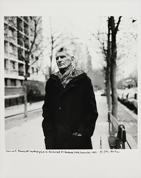 John Minihan, Samuel Beckett on Boulevard St. Jacques, Paris (1985) at Morgan O'Driscoll Art Auctions
