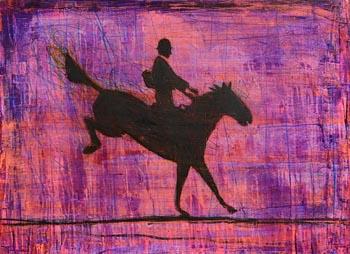 Ross Wilson, Horse and Rider at Morgan O'Driscoll Art Auctions