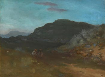 George William Russell, Figures in a Mountain Landscape at Morgan O'Driscoll Art Auctions