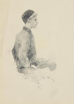 John Butler Yeats, Jack B. Yeats(with second drawing of a lady verso) at Morgan O'Driscoll Art Auctions
