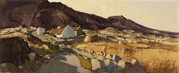 Cecil Maguire, Evening Light on Errisbeg, Roundstone at Morgan O'Driscoll Art Auctions