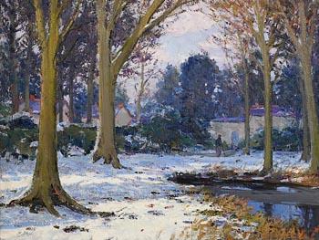 Hans Iten, The Winter Walk at Morgan O'Driscoll Art Auctions