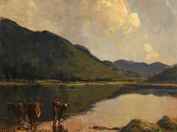 James Humbert Craig, Cows Drinking at Water's Edge at Morgan O'Driscoll Art Auctions