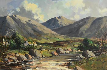 George K. Gillespie, Shimna River, Mourne Mountains, Co. Down at Morgan O'Driscoll Art Auctions