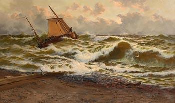 Thomas Rose Miles, Stormy Morning, Deal at Morgan O'Driscoll Art Auctions