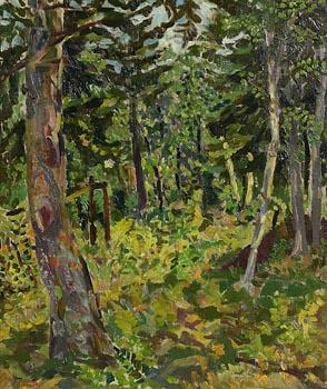 Colin Middleton, Woodland, Cavehill at Morgan O'Driscoll Art Auctions
