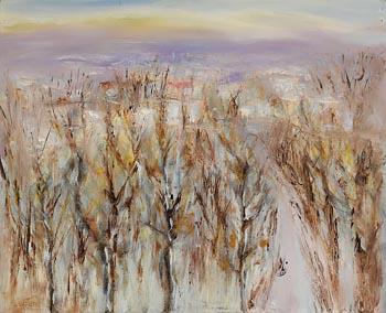 Richard Kingston, Winter Scene, Co. Wicklow (1996) at Morgan O'Driscoll Art Auctions