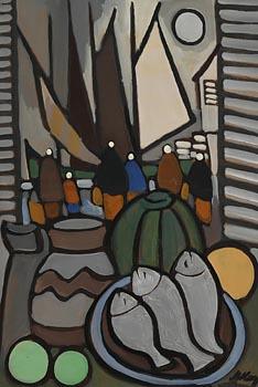 Markey Robinson, Galway Window at Morgan O'Driscoll Art Auctions
