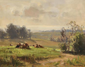 Frank McKelvey, Morning near Killyleagh, Co Down at Morgan O'Driscoll Art Auctions