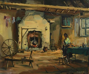 Kenneth Webb, Cottage, West of Ireland at Morgan O'Driscoll Art Auctions