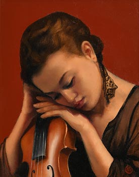 Ken Hamilton, The Violinist at Morgan O'Driscoll Art Auctions