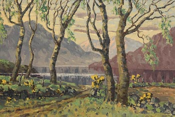 Mabel Young, Lough Mask in Spring at Morgan O'Driscoll Art Auctions