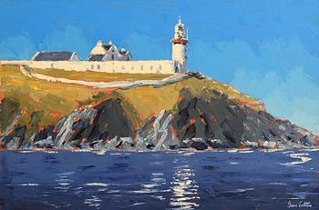 Ivan Sutton, Galley Lighthouse, Rosscarbery, Co. Cork at Morgan O'Driscoll Art Auctions
