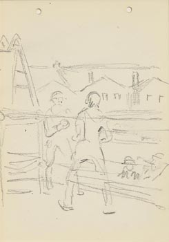 Jack Butler Yeats, The Boxing Match at Morgan O'Driscoll Art Auctions